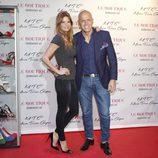 Kiko Matamoros y Makoke en la presentación de la colección de zapatos de María Teresa Campos