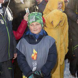 Sverre de Noruega en las celebraciones por el 25 aniversario del reinado de Harald de Noruega