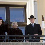 Carlos Gustavo y Silvia de Suecia, Astrid de Noruega y Margarita de Dinamarca en las celebraciones por el 25 aniversario del reinado de Harald de Noruega