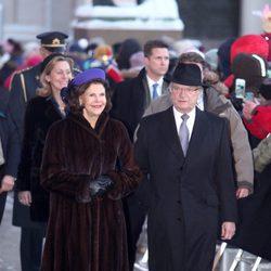 Los Reyes de Suecia en las celebraciones por el 25 aniversario del reinado de Harald de Noruega