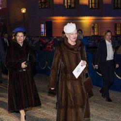 Margarita de Dinamarca en las celebraciones por el 25 aniversario del reinado de Harald de Noruega
