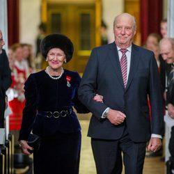 Los Reyes de Noruega en las celebraciones por el 25 aniversario del reinado de Harald de Noruega