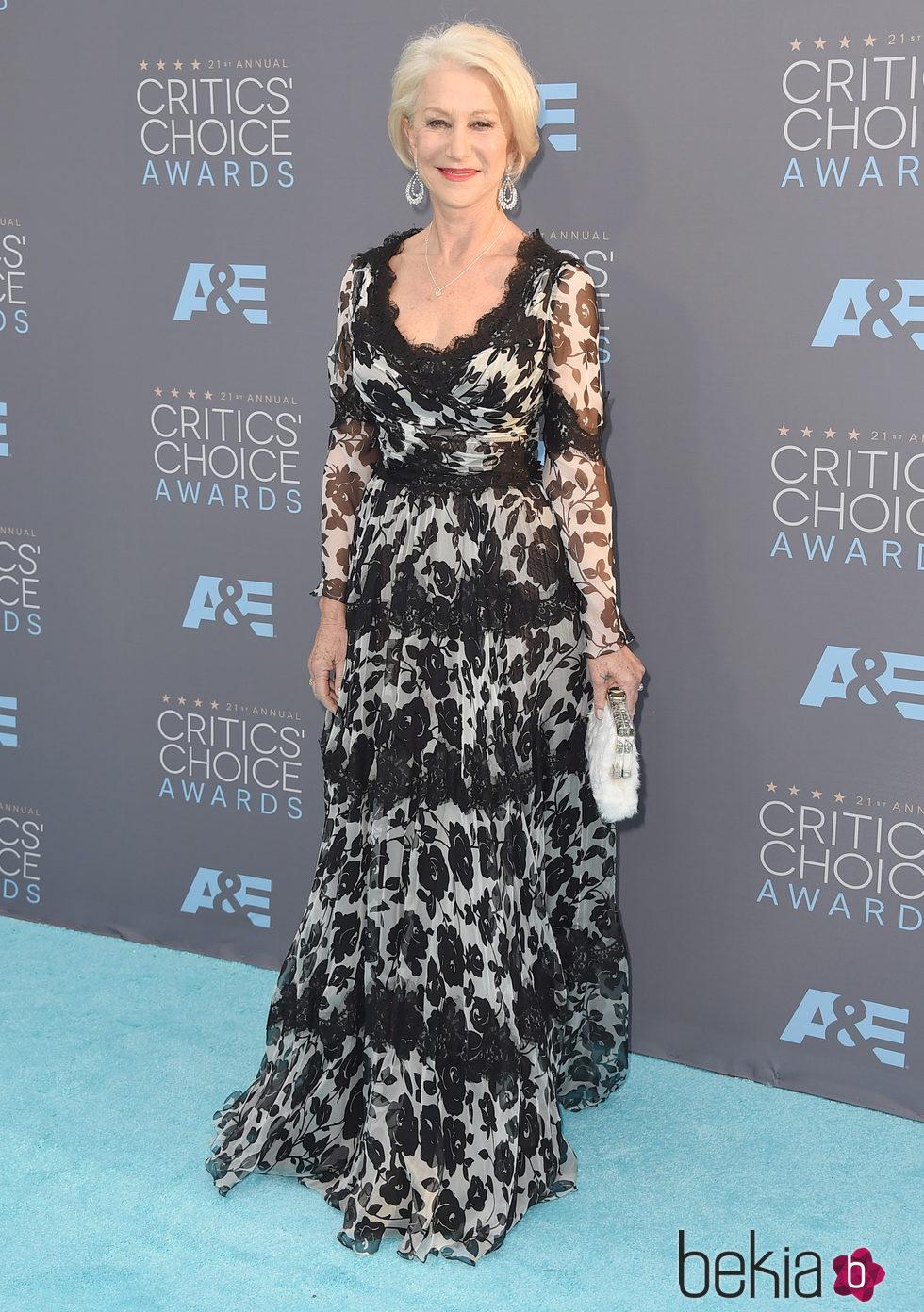 Helen Mirren en los Critics' Choice Awards 2016