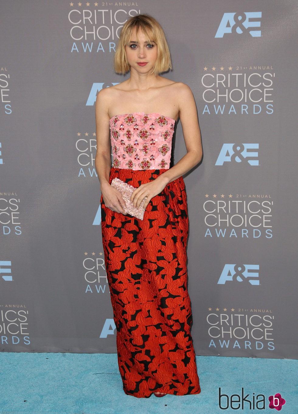 Zoe Kazan en los Critics' Choice Awards 2016