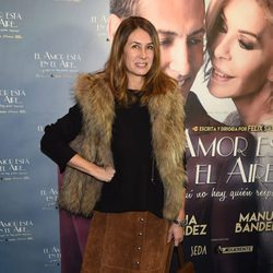 Ana García Siñeriz en el estreno de la obra 'El amor está en el aire'