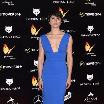 Bárbara Lennie en la alfombra roja de los Premios Feroz 2016