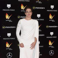 Nora Novas en la alfombra roja de los Premios Feroz 2016