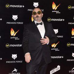 Carlos Areces en la alfombra roja de los Premios Feroz 2016