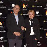 Javier Sardá y Rosa María Sardá en la alfombra roja de los Premios Feroz 2016