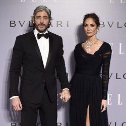 Eugenia Silva con su novio Alfonso de Borbón en su fiesta de 40 cumpleaños