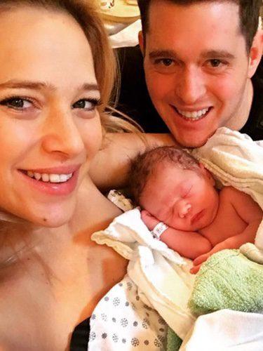 Michael Bublé, Luisana Lopilato y su segundo hijo Elías