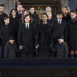 La familia de René Angelil en su funeral