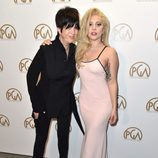 Diane Warren y Lady Gaga en los Producers Guild Awards 2016
