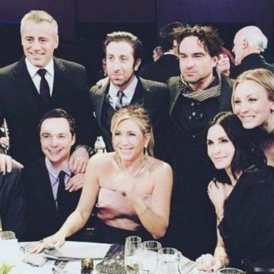 Primera reunión del elenco de 'Friends' junto a los actores de 'The Big Bang Theory'