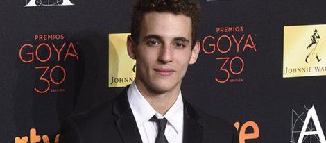 Miguel Herrán en la cena de los nominados a los Premios Goya 2016