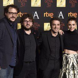 Juan Miguel del Castillo, Dani de la Torre, Daniel Guzmán y Leticia Dolera en la cena de los nominados a los Premios Goya 2016