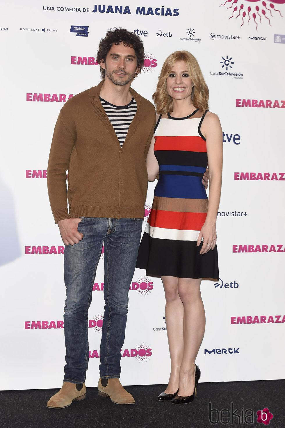 Paco León y Alexandra Jiménez en la presentación de 'Embarazados'