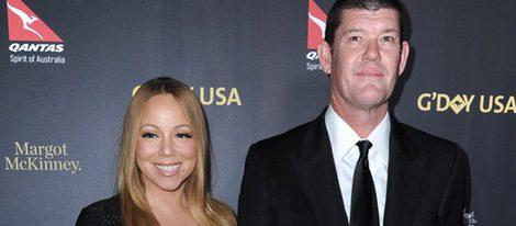 Mariah Carey y James Packer en la gala G'day EE.UU