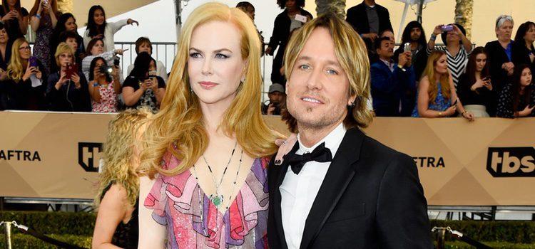 Nicole Kidman y Keith Urban en la alfombra roja de los SAG 2016