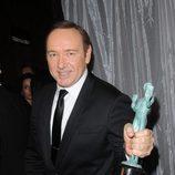 Kevin Spacey con su Premio del Sindicato de Actores 2016