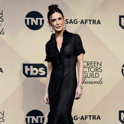 Demi Moore en la alfombra roja de los SAG 2016