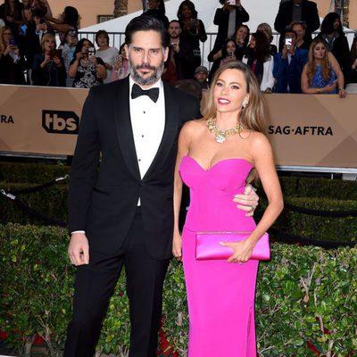 Sofía Vergara y Joe Manganiello en la alfombra roja de los SAG 2016