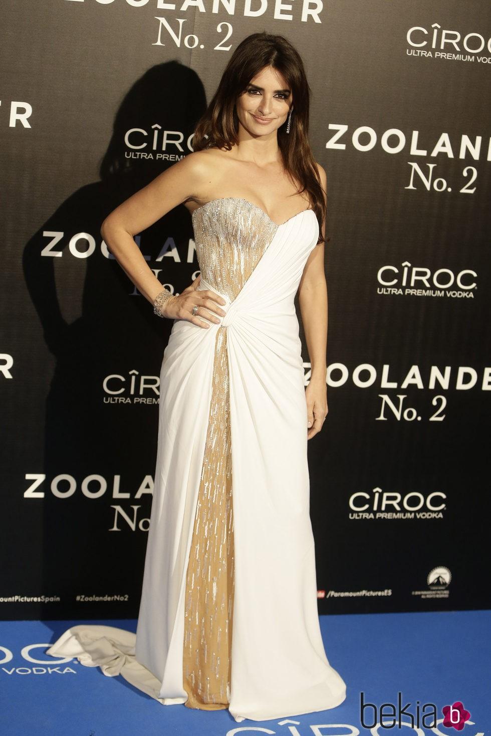 Penélope Cruz en la premiere en Madrid de 'Zoolander 2'