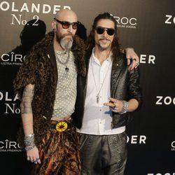 Óscar Jaenada y Etxebarria en la premiere en Madrid de 'Zoolander 2'