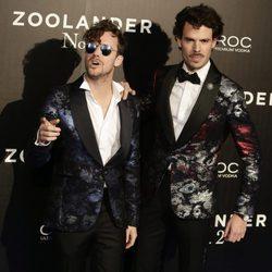Aldo Comas con Juan Avellaneda en la premiere en Madrid de 'Zoolander 2'