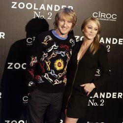 Owen Wilson y Christine Taylor en la premiere en Madrid de 'Zoolander 2'