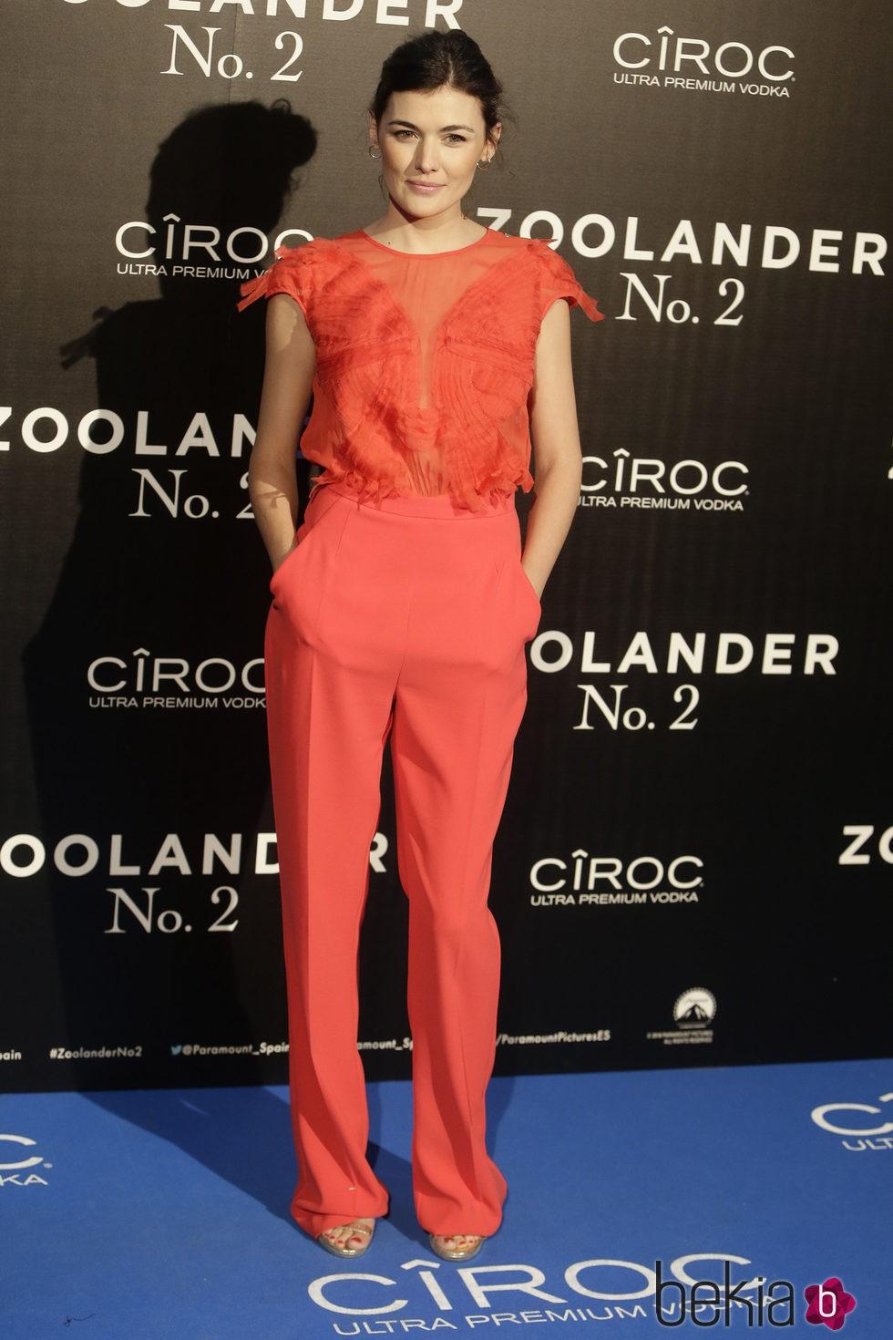 Marta Nieto en la premiere en Madrid de 'Zoolander 2'