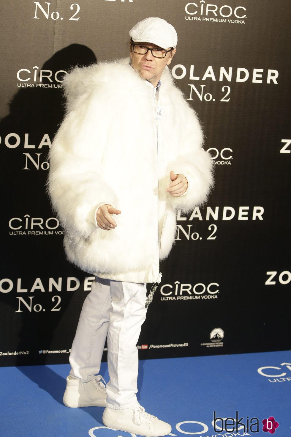 Santiago Segura en la premiere en Madrid de 'Zoolander 2'