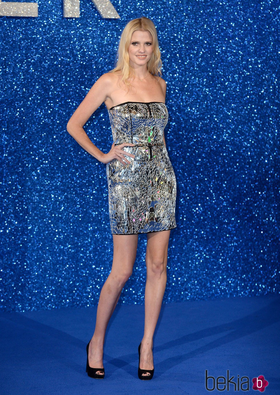 Lara Stone en el estreno de 'Zoolander 2' en Londres