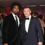 Luke Evans y David Haye en la Gala de los Prince's Trust 2016