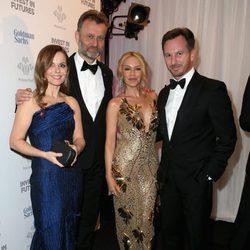 Geri Halliwell, Hugh Dennis, Kylie Minogue y Christian Horner en la Gala de los Prince's Trust Awards 2016