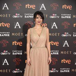 Cristina Brondo en la alfombra roja de los Premios Goya 2016