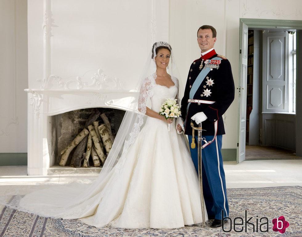 Joaquín y Marie de Dinamarca en su boda