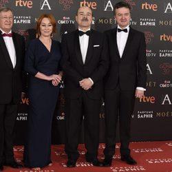 Antonio Resines y García Quejereta en la alfombra roja de los Premios Goya 2016