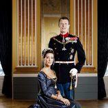 Foto oficial de los Príncipes Joaquín y Marie de Dinamarca