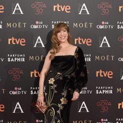 Nathalie Seseña en la alfombra roja de los Premios Goya 2016