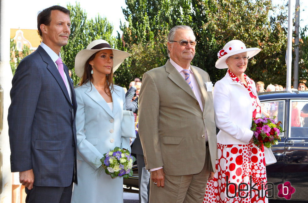 Joaquín, Marie, Margarita y Enrique de Dinamarca