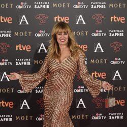 Miriam Díaz Aroca en la alfombra roja de los Premios Goya 2016