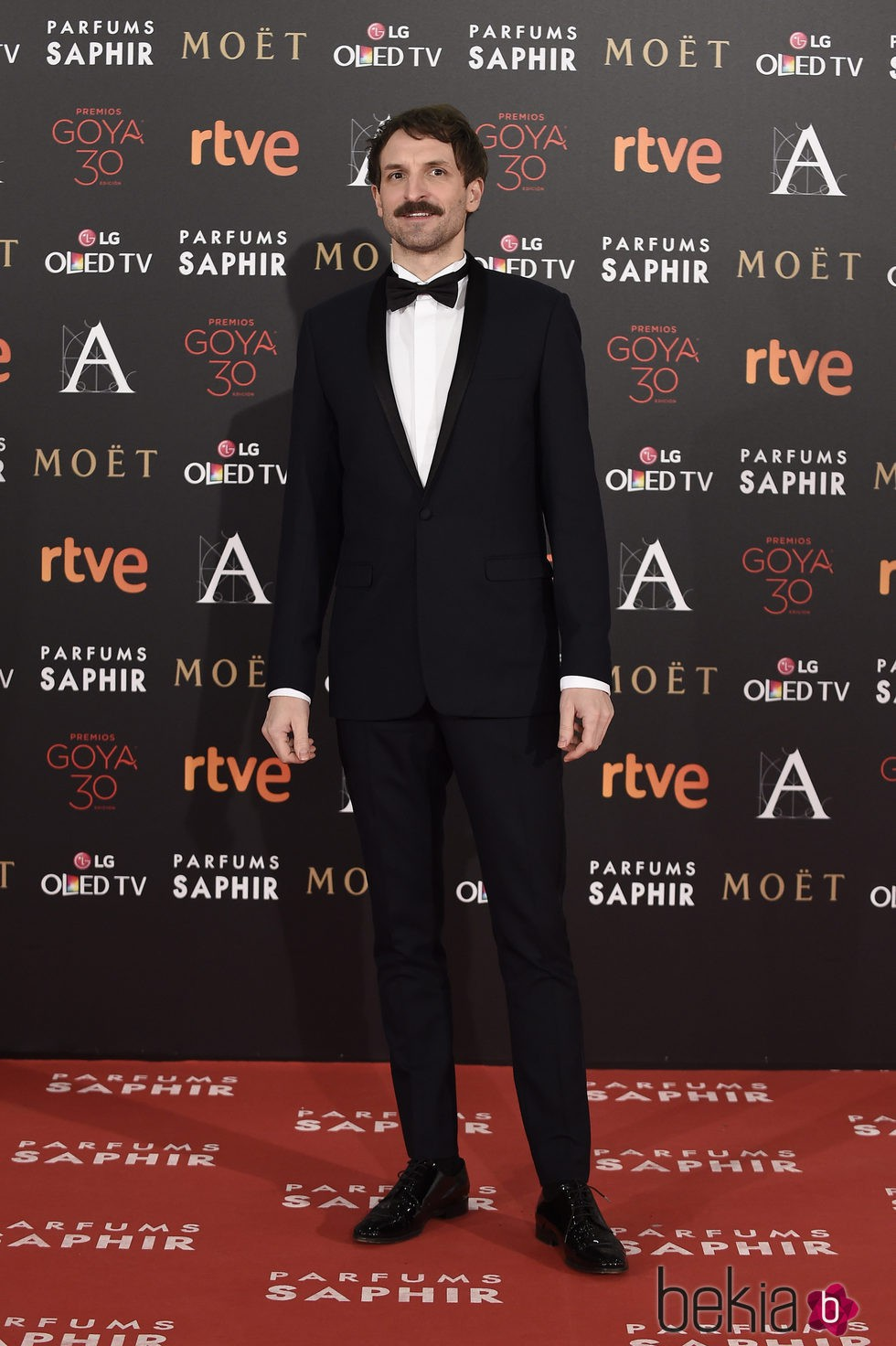 Julián Villagran en la alfombra roja de los Premios Goya 2016