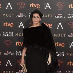 Elvira Minguez en la alfombra roja de los Premios Goya 2016