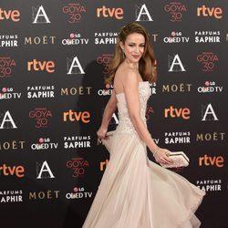 Silvia Abascal en la alfombra roja de los Premios Goya 2016