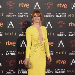 María Adánez en la alfombra roja de los Premios Goya 2016