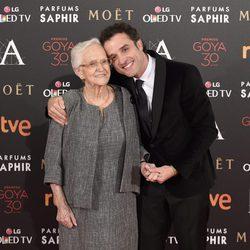 Daniel Guzmán en la alfombra roja de los Premios Goya 2016