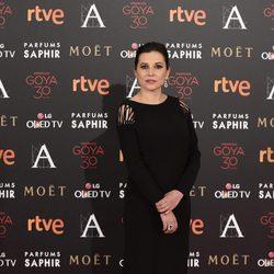 Marian Álvarez en la alfombra roja de los Premios Goya 2016