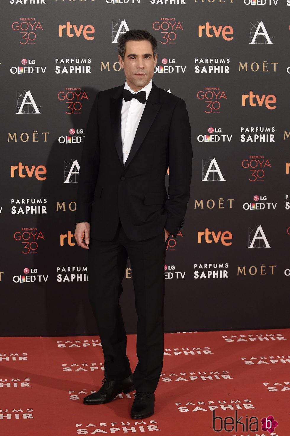 Unax Ugalde en la alfombra roja de los Premios Goya 2016