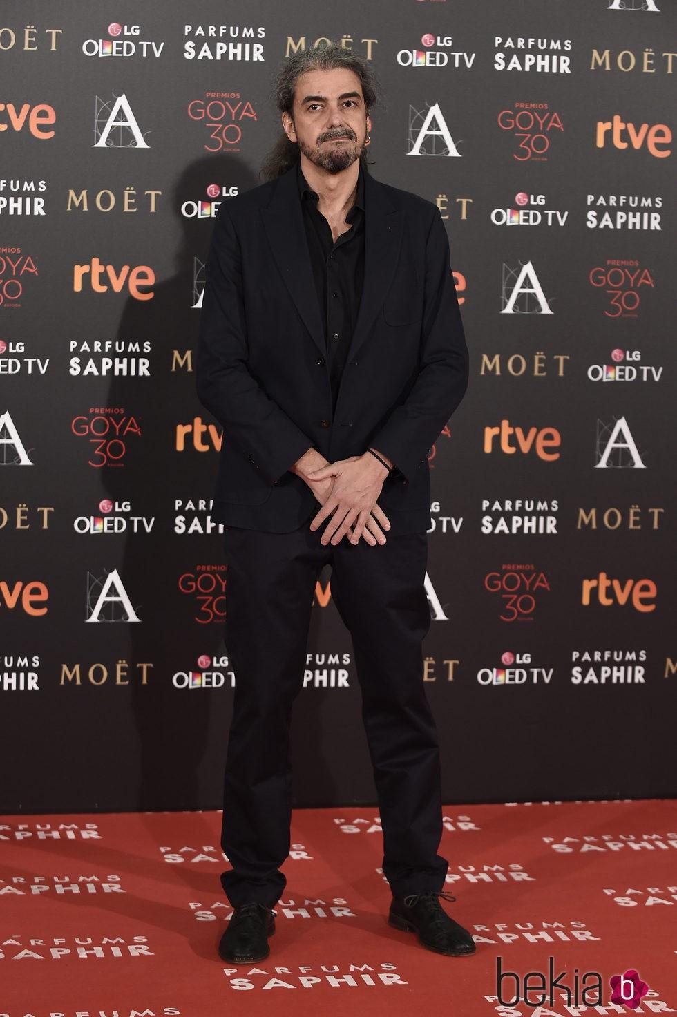 Fernando León de Aranoa en la alfombra roja de los Premios Goya 2016